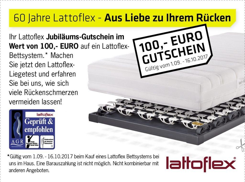 Wir feiern 60 Jahre Lattoflex – jetzt 100 € sparen!