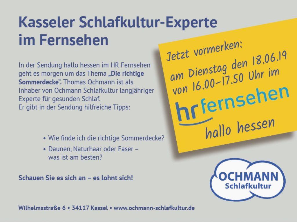 Thomas Ochmann als Schlafexperte im Fernsehen