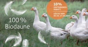100 % Biodaune - unsere neuen Daunendecken